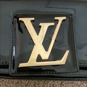 Bags - LV satchel/clutch with gold lettering